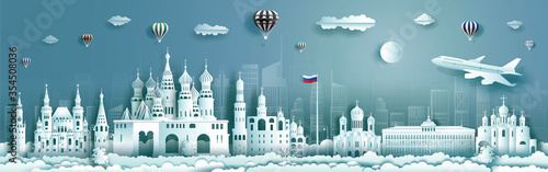 Obraz Travel Russia top world famous city ancient and palace architecture. - fototapety do salonu