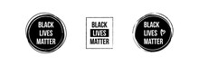 Black Lives Matter Icons, Bann...