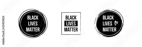 Obraz Black lives matter icons, banners, labels, design elements set, collection. - fototapety do salonu