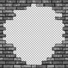 Vintage Realistic Broken Brick...