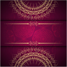 Gold Colour Mandala Art Design...