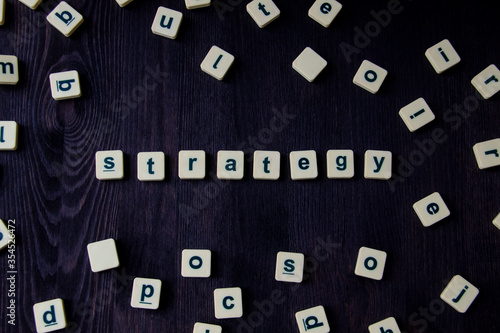 Word or phrase STRATEGY made with letters, great image for your design Wallpaper Mural