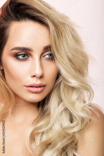 Fototapety, obrazy: Beauty portrait of a beautiful blonde close-up.