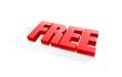 Free banner element, market offer present. Vector