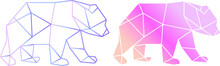 Vector Abstract Polygonal Geometric Bear Illustration Modern Art