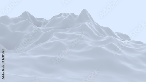 Fotografia, Obraz 3d ice mountain at dusk. abstract texture. cold atmosphere.