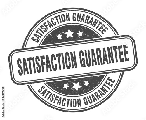 Foto satisfaction guarantee stamp