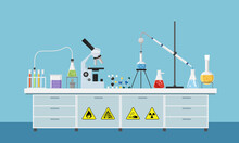 Vector Of Chemistry Lab Equipm...
