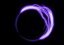 抽象的な青い光の渦