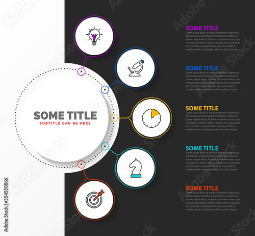 Infographic design template. Creative concept with 5 steps Canvas-taulu