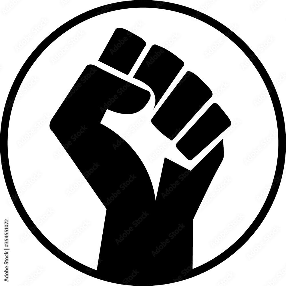 Fototapeta vector illustration of a hand . black lives matter. black power