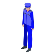 Policeman Icon. Isometric Of Policeman Vector Icon For Web Design Isolated On White Background