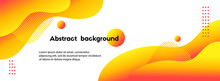 Liquid Yellow Abstract Background. Vector Long Fluid Banner For Social Media Posts, Presentations