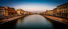 Pisa, Tuscany, Italy Arno Rive...