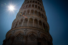 Leaning Tower Of Pisa With Sun...