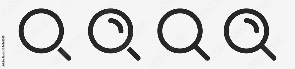 Fototapeta Isolated Magnifying glass icon flat classic design. Search icon. Vector illustration.