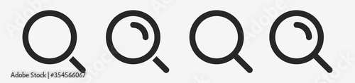 Obraz Isolated Magnifying glass icon flat classic design. Search icon. Vector illustration. - fototapety do salonu