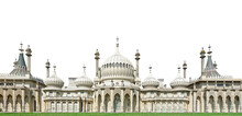 The Royal Pavilion, Also Known As The Brighton Pavilion, Isolated On White Background