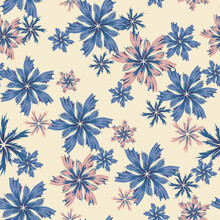Seamless Beige Pattern In Vint...