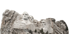 Mount Rushmore National Memorial In South Dakota (USA) Isolated On White Background