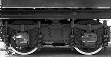 Wheels Of A Steam Locomotive W...