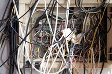The Electrical Wires In The Box Look Messy.