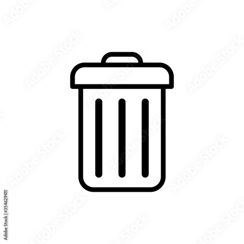 Fototapety, obrazy: Trash Can Icon Vector