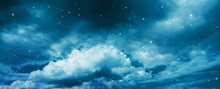 Space Of Night Sky With Cloud ...