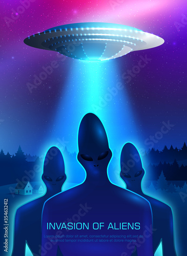 фотография Alien Invasion Illustration