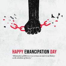 Juneteenth Freedom Day. Emanci...