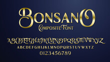 Vector Composite Font Bonsano....