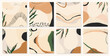 Trendy abstract artistic templates. Modern universal vector illustrations. Soft pastel colors.