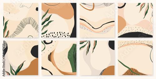 Fototapeta Trendy abstract artistic templates. Modern universal vector illustrations. Soft pastel colors.  obraz