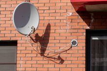 Satellite Dish On The Wall