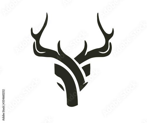 deer head silhouette Fototapeta