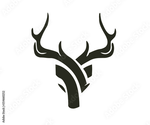 Fotografía deer head silhouette