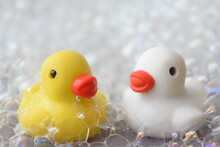 Rubber Duck With Bubble Bath