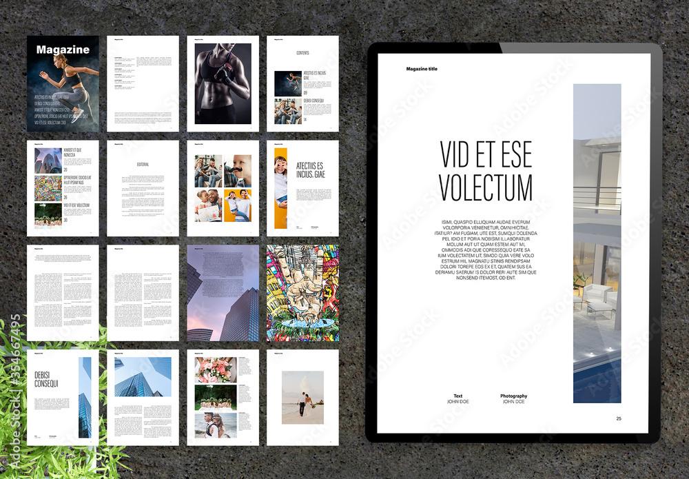 Fototapeta Modern and Minimal Lifestyle Digital Magazine Layout