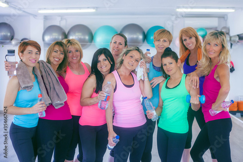 Fotografiet woman in exercise workout class