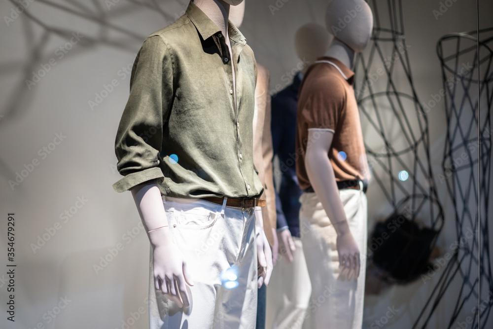 Fototapeta clothes store