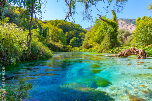 Blue eye spring near Sarande, Albania Canvas Print