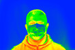 canvas print picture - Mass thermal screening of travellers for coronavirus.