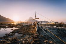El Nido, Banca Boat In Low Tid...