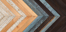 Wooden Wall With Chevron Patte...