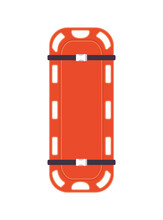 Isolated Orange Stretcher Vector Design