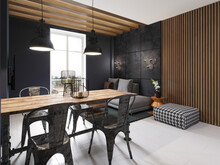 Modern Sofa And Dining Table W...