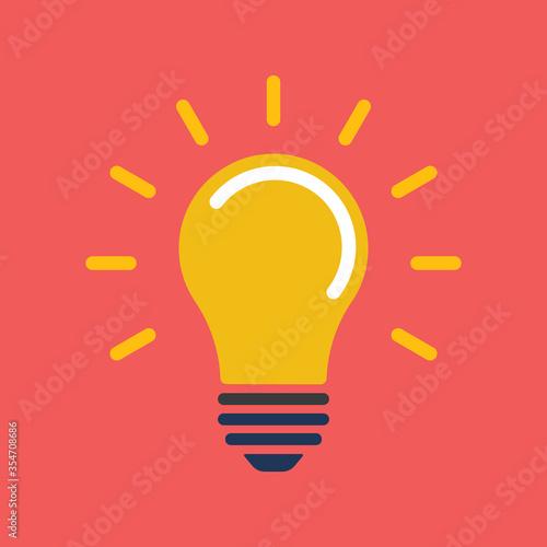 Light bulb icon Wallpaper Mural
