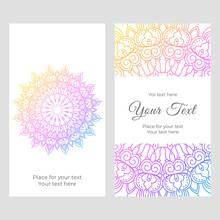 Mandala Rainbow Ornament Card ...