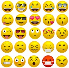 Set Of Funny Classic Emojis Is...