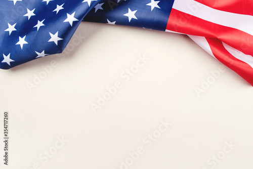 Fotografia American flag on a gray background